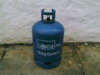 CALOR GAS BOTTLES 15 KG BUTANE 3 AVAILABLE