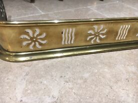 A brass hearth/ fire guard. Nice detail and good condition for age