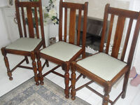 3 x Lovely old Chairs all in lovely condition