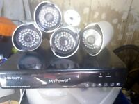 DVR with 4 cameras 1TB harddrive