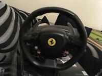 Xbox360 and PC driving/racing wheel (Ferrari brand)