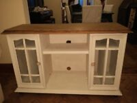 Solid Wood, Shabby Chic Style TV Unit Cabinet