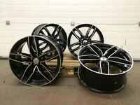 """4x 18"""" AUDI RS6C STYLE ALLOYS WHEELS RS4 RS6 RS5 RS3 A3 A4 A5 A6 A7 A8 S3 S4 S5 S6 S LINE GOLF SEAT"""