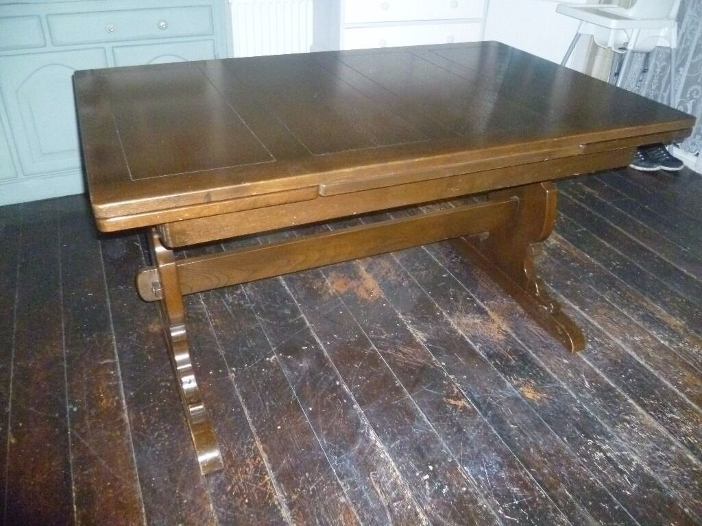 Vintage Extendable Dining Table 10 Seater Extendable Oak Rectory Dining Table Vintage Ercol 434