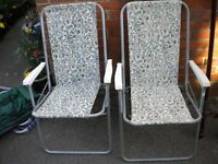 2 FOLDING CHAIRS 30X20X20 INCHES GOOD TO KEEP IN THE CAR