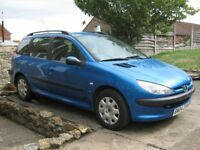 ***SPARES OR REPAIR*** 2004 (54 plate) Peugeot 206 2.0Hdi SW (Estate) ***SPARES OR REPAIR***