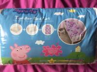 Peppa Pig Toddler Bed Set (as new)