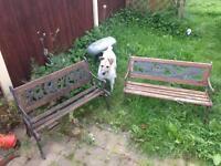 2 children's garden benches