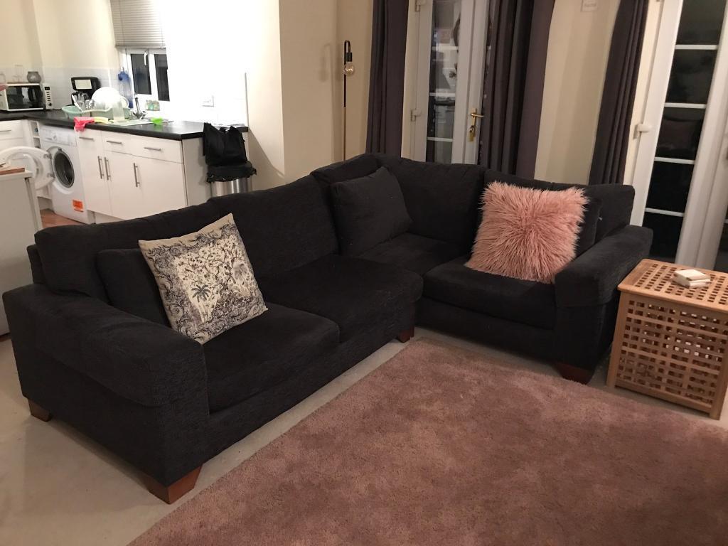 Black Next Corner Sofa Great Condition