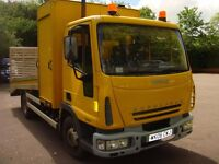 iveco tector eurocargo recovery beavertail plant 7.5t council 75k from new car transporter fsh 2006