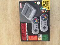 Nintendo Super Nintendo SNES Classic Mini Console.