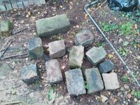 Reclaimed stone cobbles of various sizes - £10