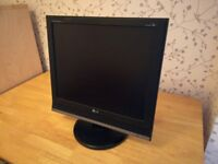 19 inch LG television or computer monitor