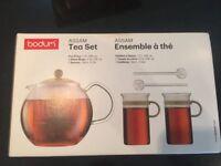 Bodum Tea Pot - Assam 5 Piece Tea Press Set - Black BNIB
