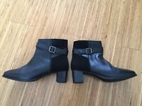 Real Leather Soleflex Ankle Boots - Size 7 / 41