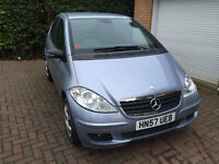 2007 MERCEDES A160 CDI SE DIESEL, 5 DOOR, MANUAL, LOW MILEAGE 44,500, LONG MOT 01/2017, £2900