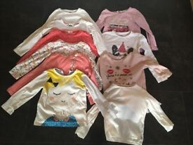 Bundle of long sleeved t shirts girls ages 3-6years