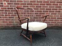 Vintage ERCOL Armchair Easy Chair Stick Back Model 477 1960s Mid Century Retro