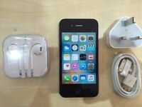 IPHONE 4S BLACK / UNLOCKED / 16 GB / GRADE A / 6 MONTHS WARRANTY / VISIT MY SHOP.