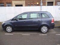 Vauxhall ZAFIRA Life,1598 cc 7 seat MPV,clean tidy MPV,runs and drives well,great family car