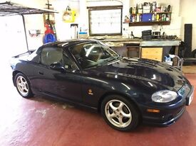Mazda MX-5 1.8 Sport - convertible (HARD ROOF INCLUDED), dark blue, low mileage, extremely reliable