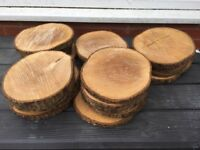 Wedding Table Decorations - Log Discs