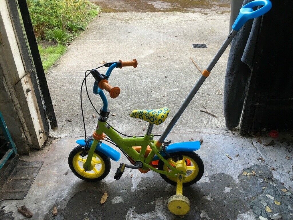 Chad Valley Toddler Kids Child Bike With Parent Steering