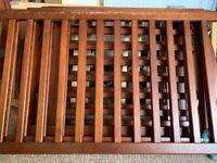 Free dark brown cot