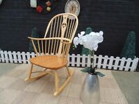 A UNIQUE EXTRA LARGE SOLID PINE FARMHOUSE ROCKING CHAIR ***2000 ANNO DOMINI ***
