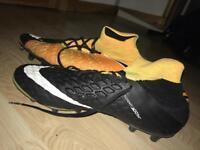 Size UK 10 Black and orange Hypervenom Nike