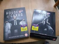 House of Cards Seasons DVD 1 and 2