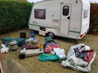Bailey Range 1998 year, 2 berth, end kitchen, only 655kg, 16ft long, full awning and accessories