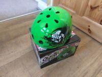 Kids green skate helmet