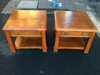 Two wooden coffee tables will separate