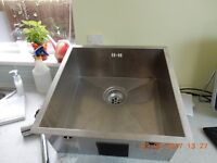 Stainless Steel Sink used.