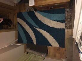 A large shaggy rug