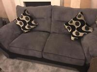 2/3 Seater Grey Sofas with Storage Footstool