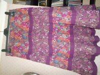 Gypsy skirt, purple multi coloured floral, size S.