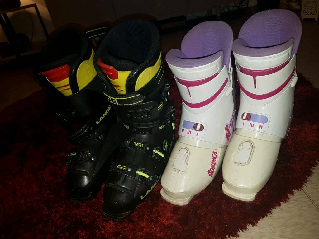 His & Hers Ski boots