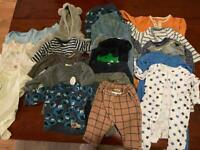 Bundle of 3-6 month baby clothes