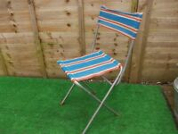 retro camping picnic folding deck chair