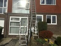 3 sets of aluminium ladders good condition