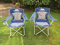 2 Trespass Camping/Garden Folding Chairs with carry bags