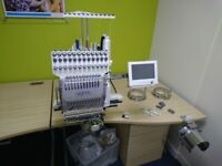 Embroidery Machine commercial/domestic/hobby - Happy HCS2 single head with all the accessories.