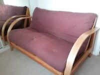 Futon style sofa bed for sale - hardly used