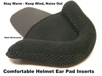 - Motorcycle DOT Half Helmet Protective Comfortable Deluxe Ear Pad Inserts No Wind