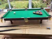 large table top pool table