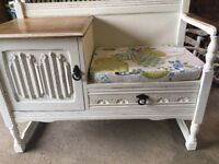 Shabby chic solid oak telephone table
