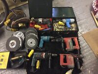 6 Various power drills selling as a lot