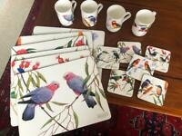 Birds of Australia placemats, mugs and coasters